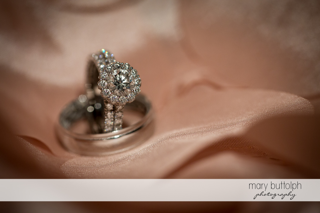 Close up of the couple's wedding rings at Emerson Park Pavilion Wedding