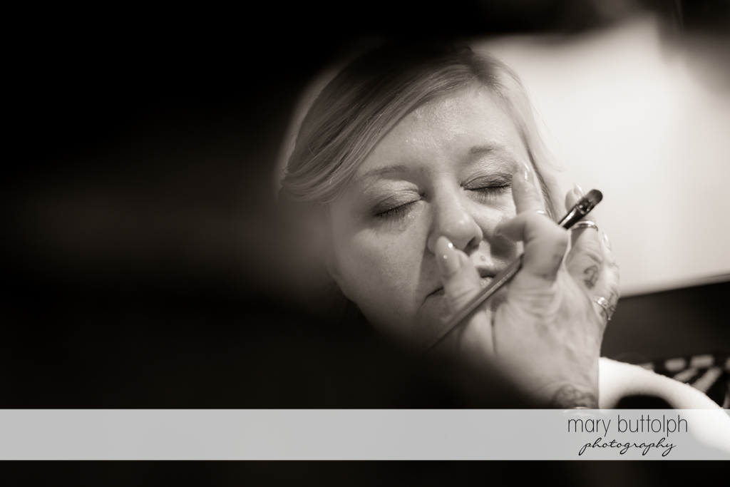 Bride gets a makeover at Emerson Park Pavilion Wedding