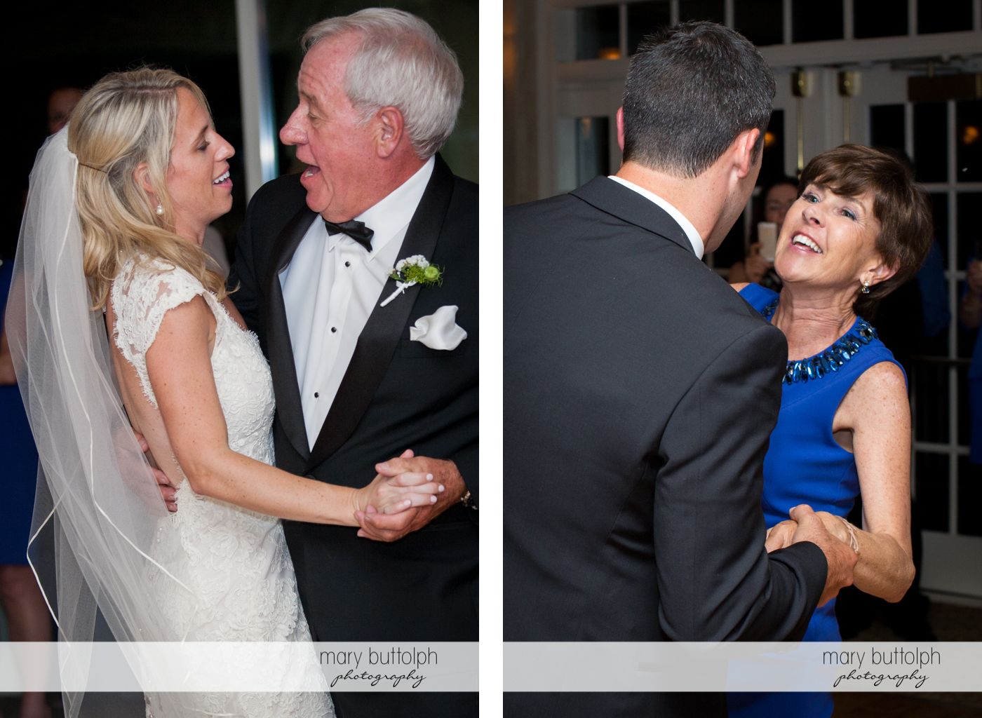 Couple dance with their parents at Skaneateles Country Club Wedding