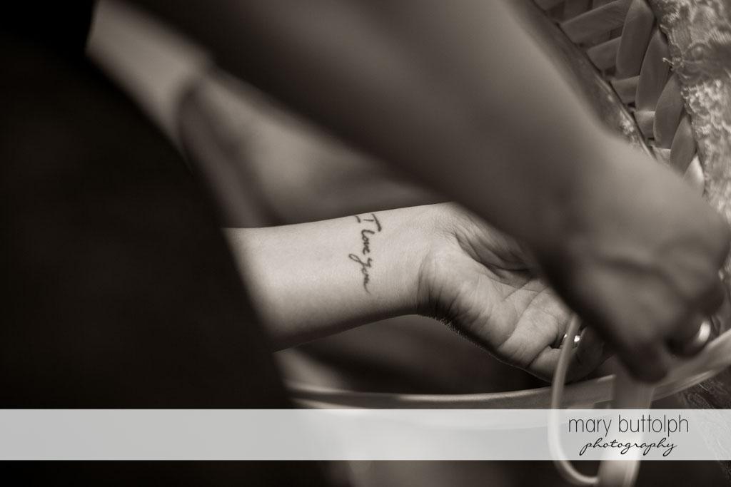 This tattoo says it all at Turning Stone Resort Casino Wedding