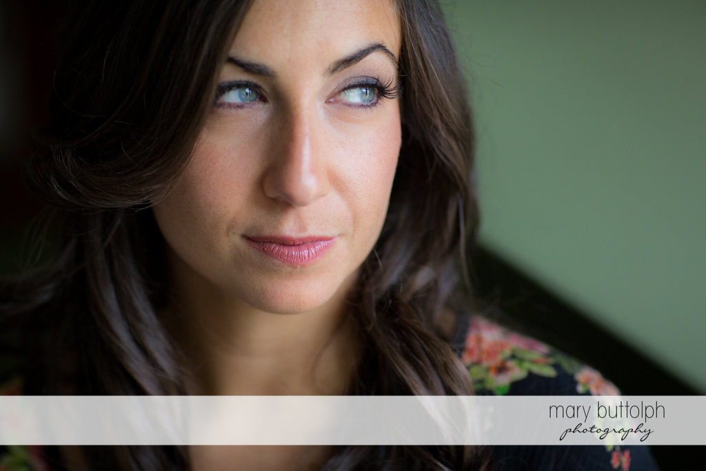 Bride looks stunning in this close up shot at the Brewster Inn Wedding