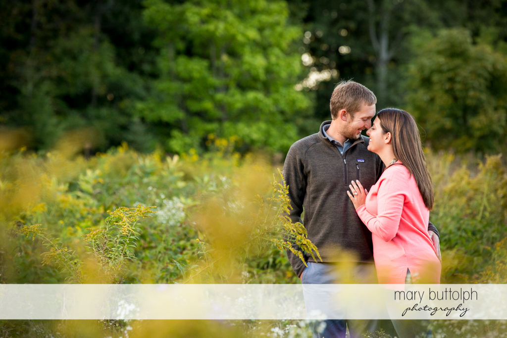 Couple have quiet time with nature at Marcellus Engagement