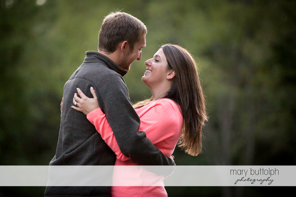 Couple share good times at Marcellus Engagement