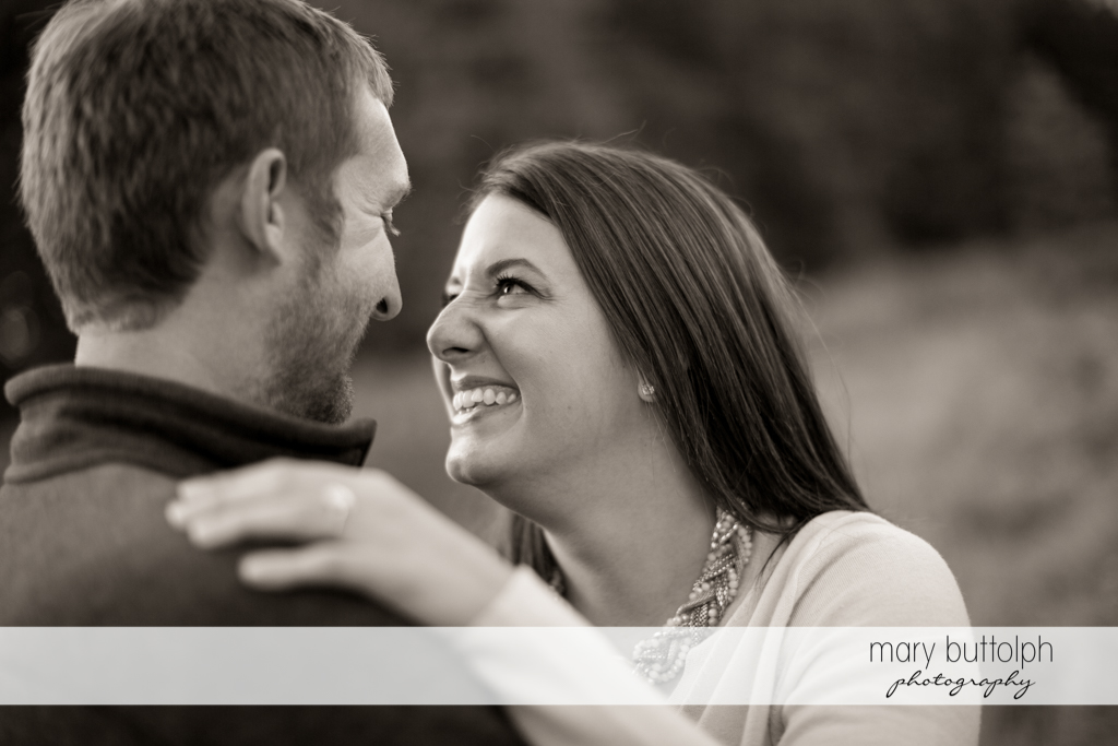 Couple in good mood at Marcellus Engagement