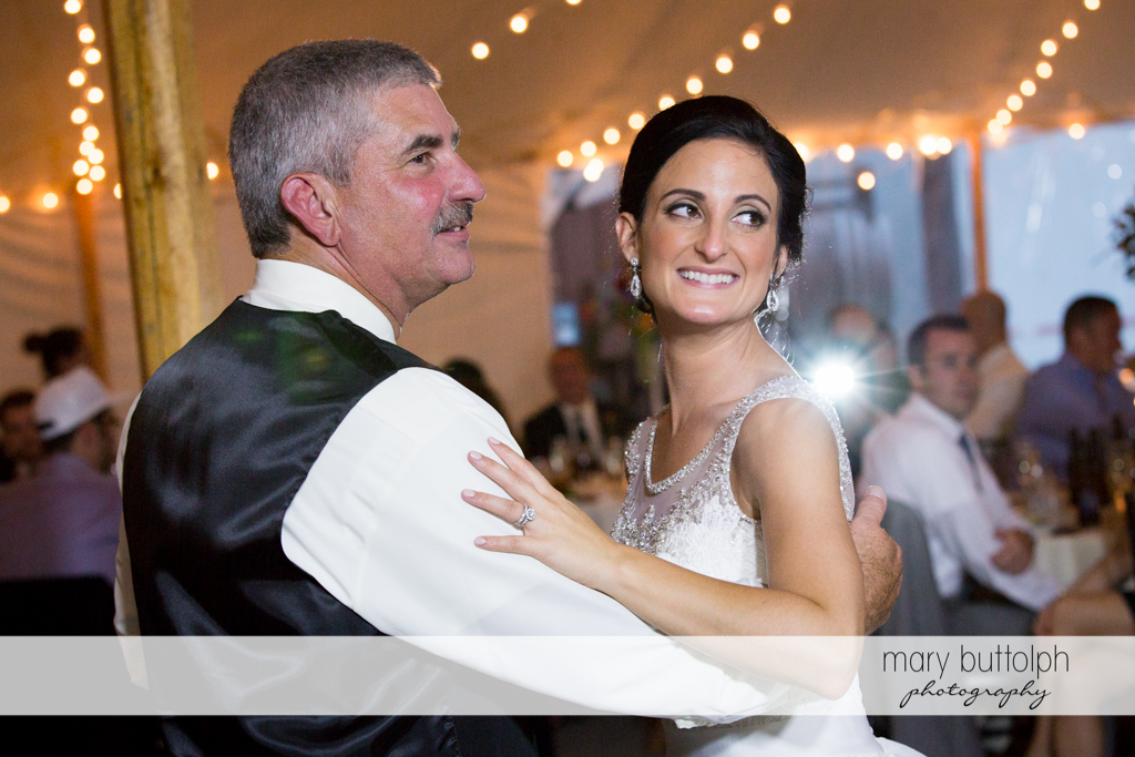 Bride and her father dance at Anyela's Vineyards Wedding