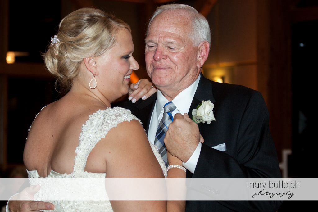 Bride dances with her father at the Lodge at Welch Allyn Wedding