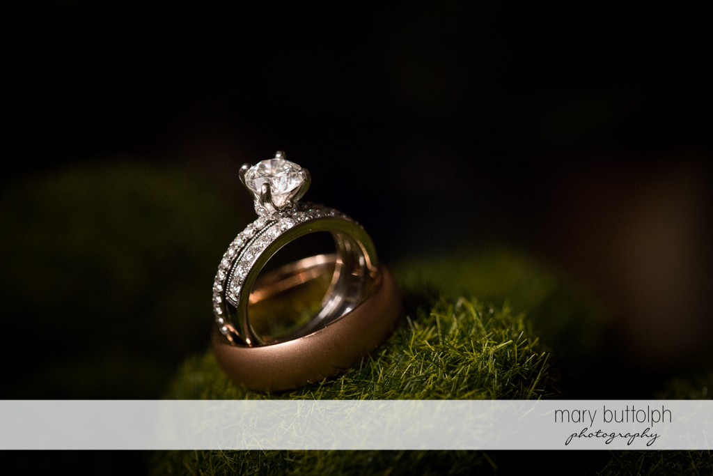 Close up shot of bride's wedding ring at the Frog Pond Bed & Breakfast Wedding