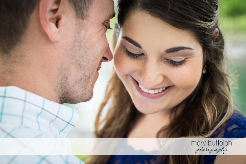 Couple get close at Emerson Park Engagement