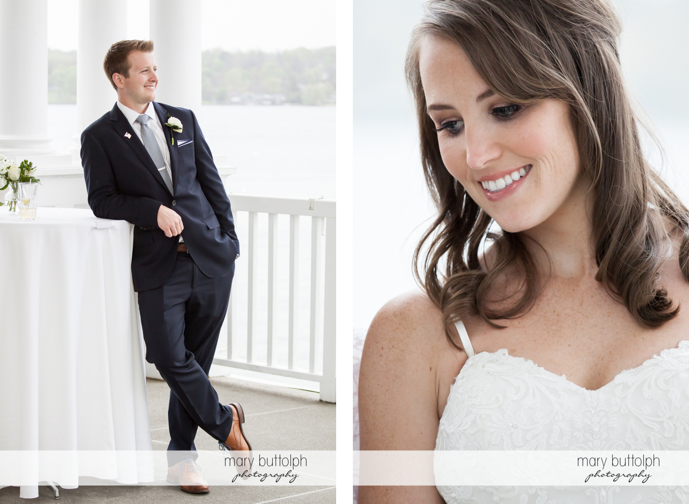 Groom and bride go solo in these pictures at Skaneateles Country Club Wedding