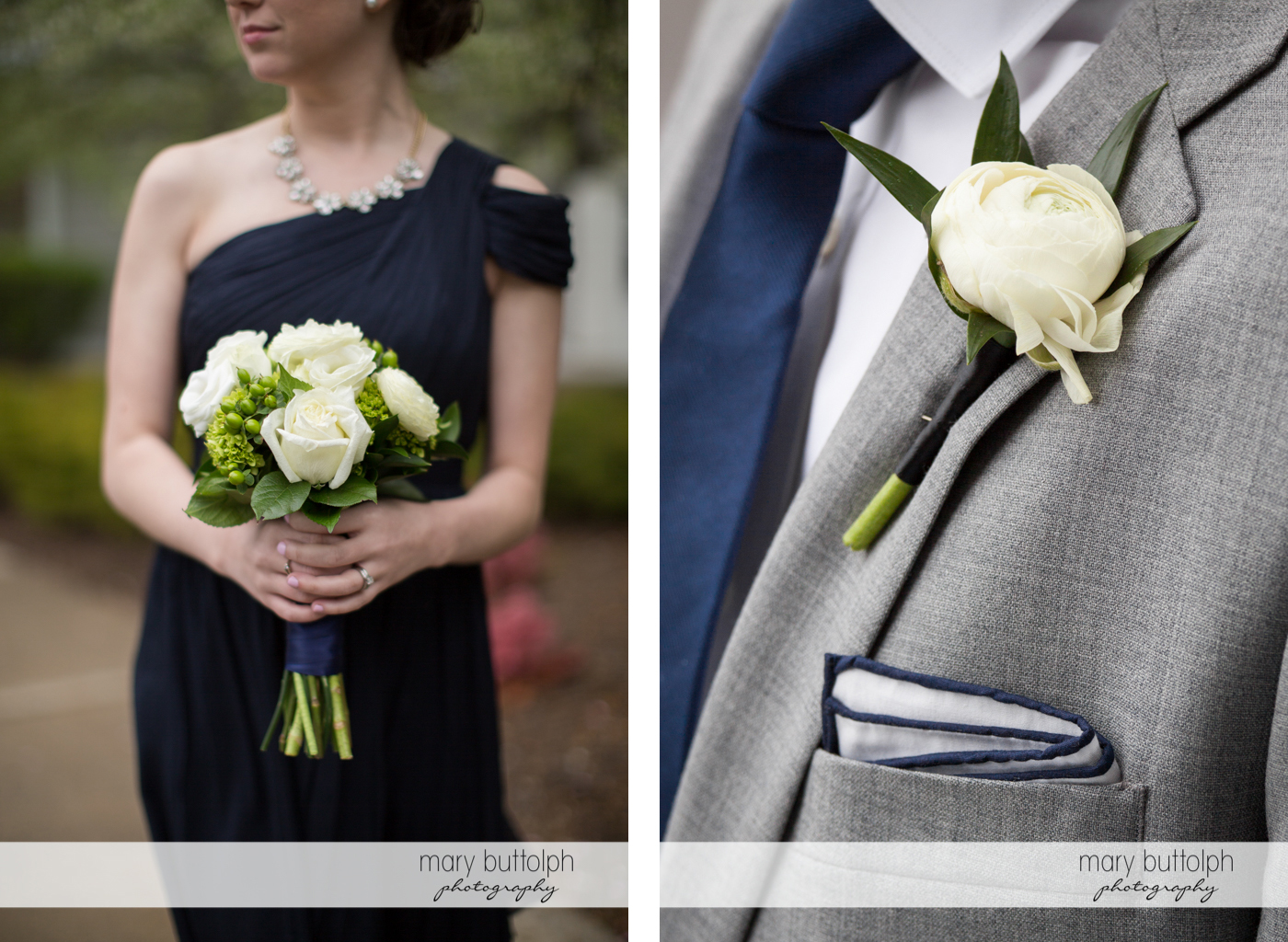White flowers are used in the wedding at Skaneateles Country Club Wedding