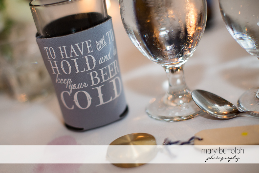 A cold beer is something great to hold after the wedding at Skaneateles Country Club Wedding