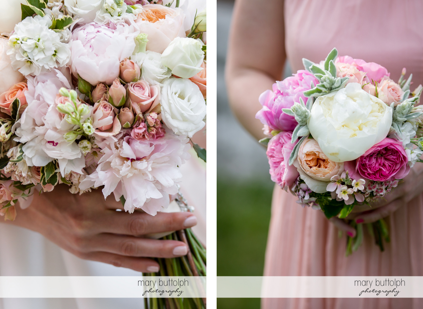 Bouquets of flowers liven up the ceremony at the Inns of Aurora Wedding