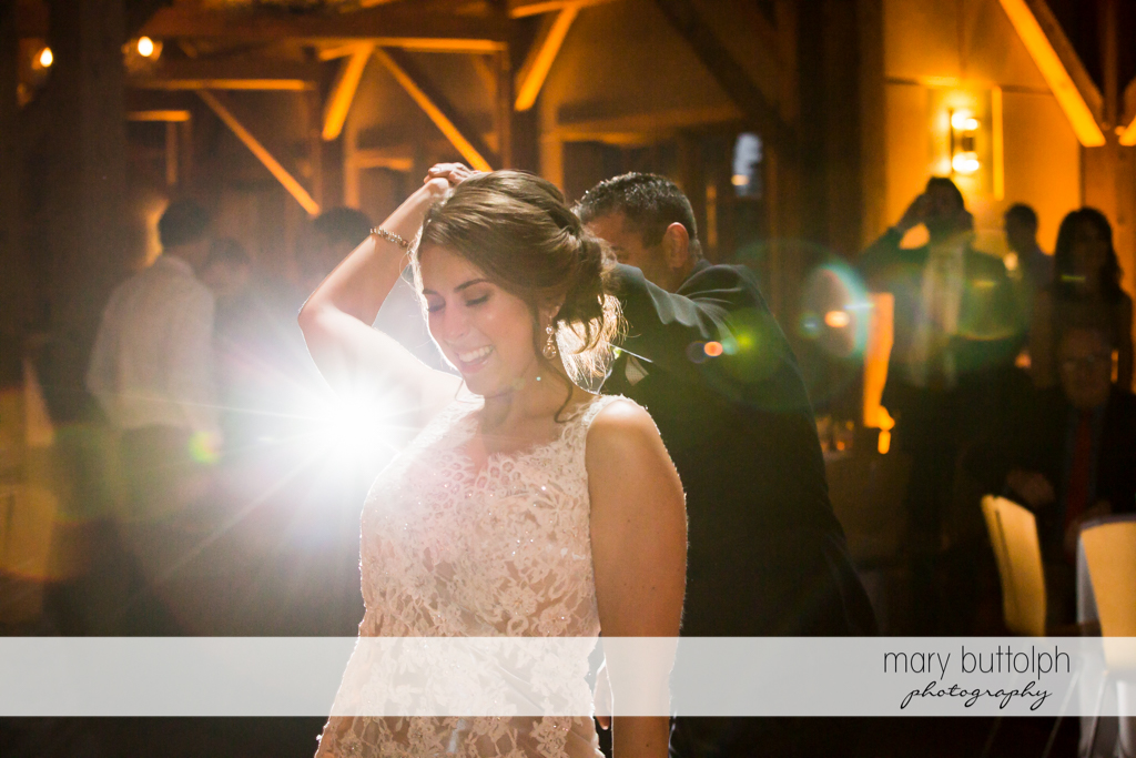 Couple show off their dance moves at The Lodge at Welch Allyn Wedding