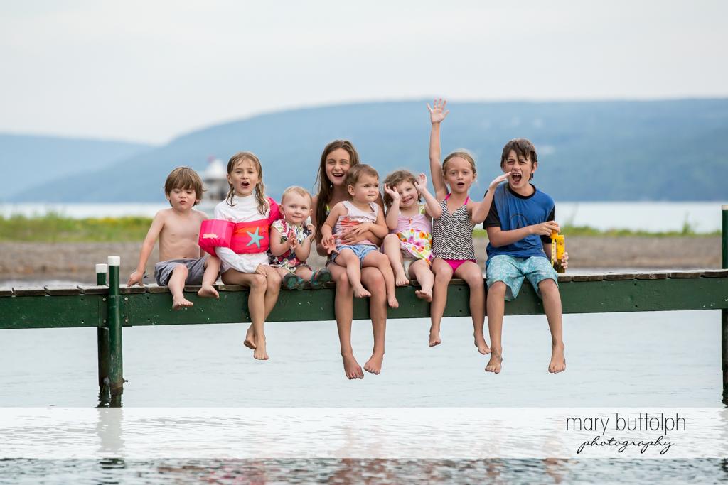 Kids have fun by the lake at Skaneateles Lake Vacation