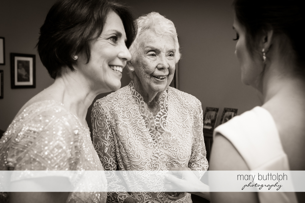 Three generations of women meet face to face at Genesee Grande Hotel Wedding