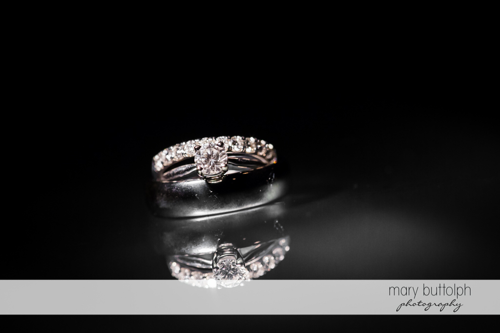 Bride's ring at Genesee Grande Hotel Wedding
