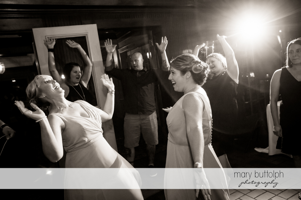 Guests have fun at the wedding reception at The Sherwood Inn Wedding