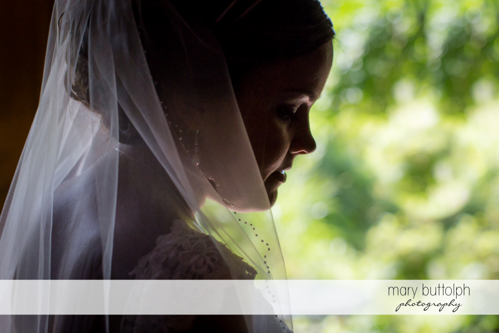 Bride in close up shot at The Lodge at Welch Allyn Wedding