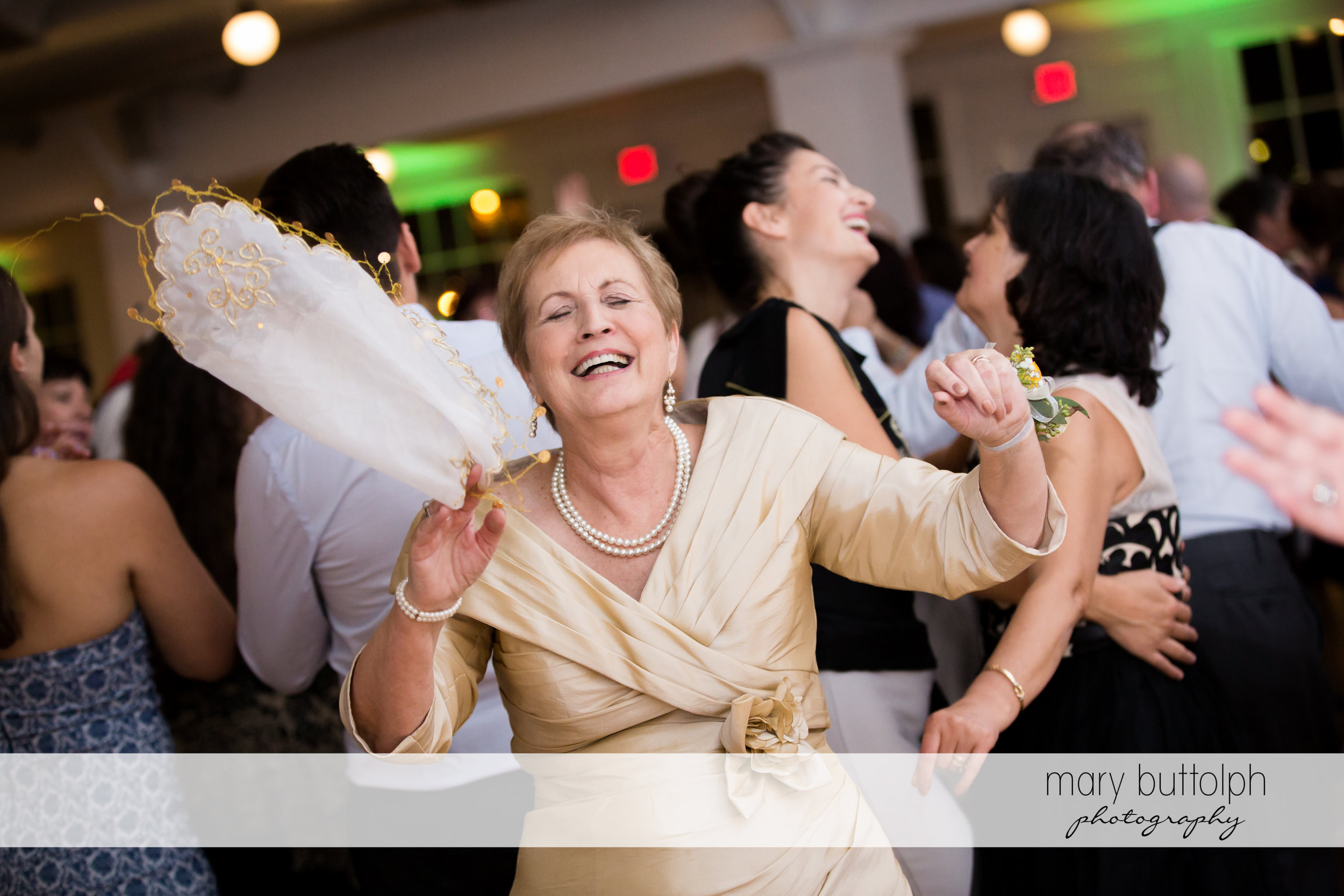 The bride's mother dances at Emerson Park Pavilion Wedding