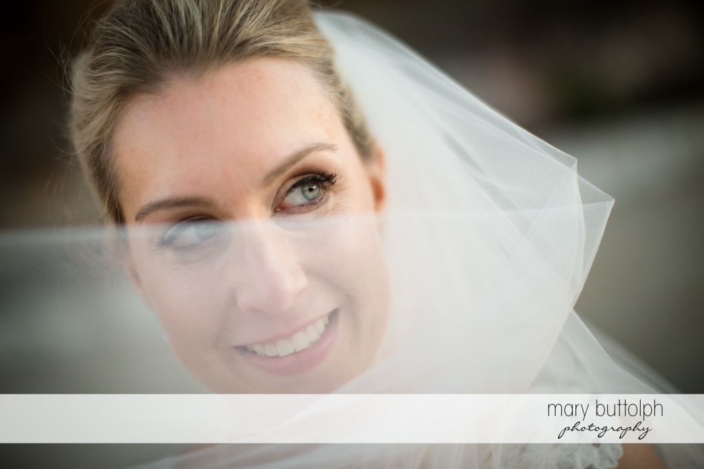Bride's close up shot at SKY Armory Wedding