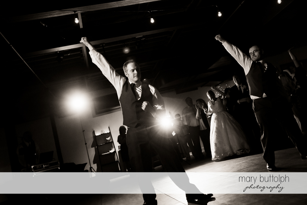Groom's best man and his friend perform a special dance number at SKY Armory Wedding