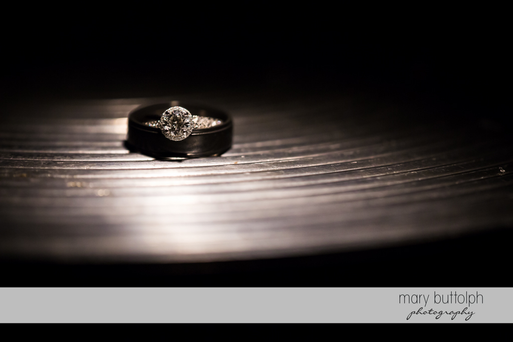 Bride's wedding ring at SKY Armory Wedding