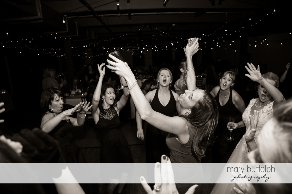 Guests dance the night away at SKY Armory Wedding