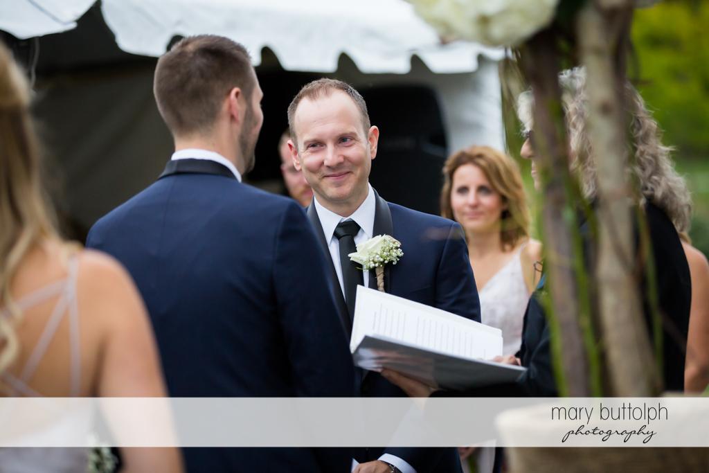 Same sex couple in a happy mood at Anyela's Vineyards Wedding