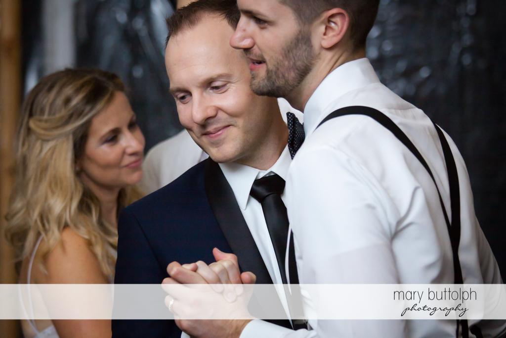 Same sex couple enjoying themselves at Anyela's Vineyards Wedding