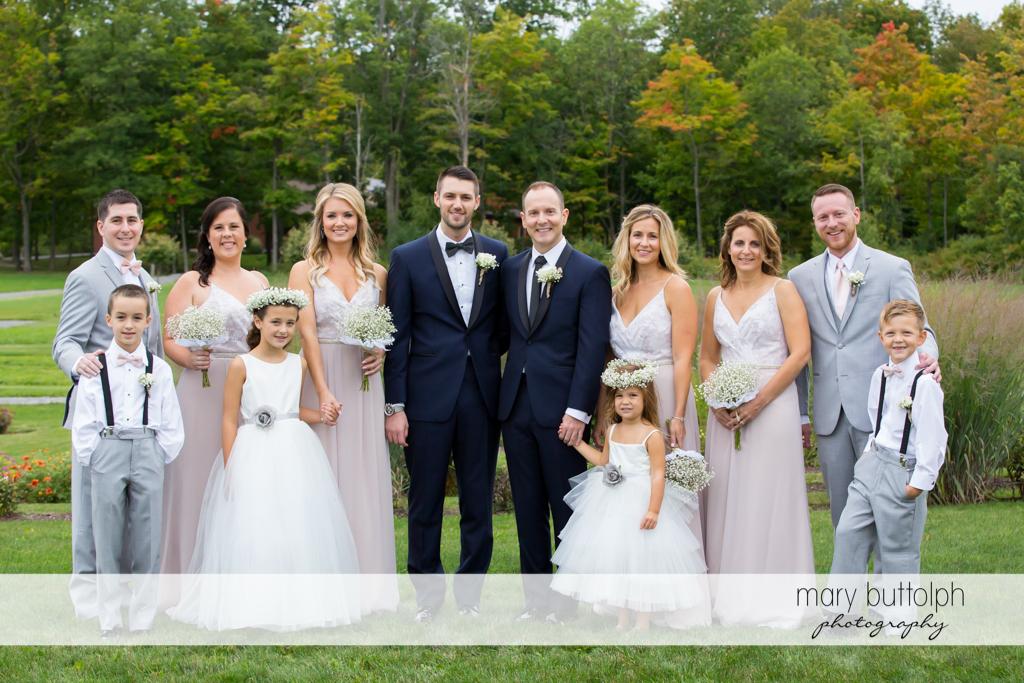 Same sex couple and family at Anyela's Vineyards Wedding