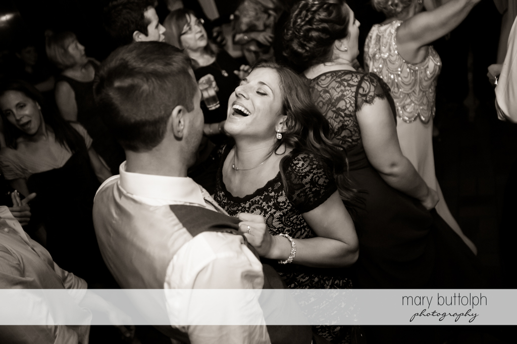 Guests dance at Sherwood Inn Wedding