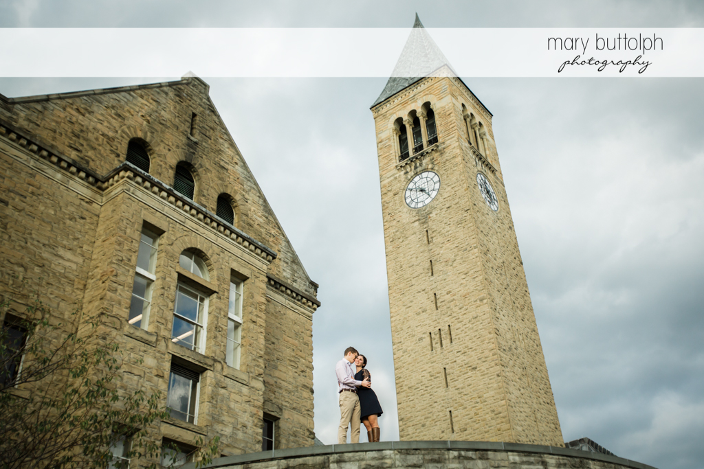 Couple take time off at Cornell University Engagement