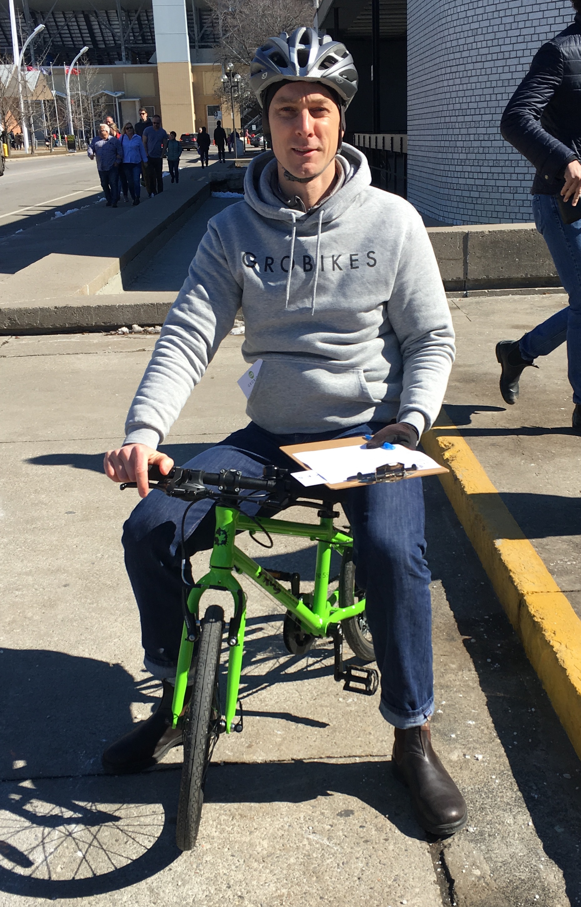 GroBikes' founder asked respondents if this bike was the right size for him or not.