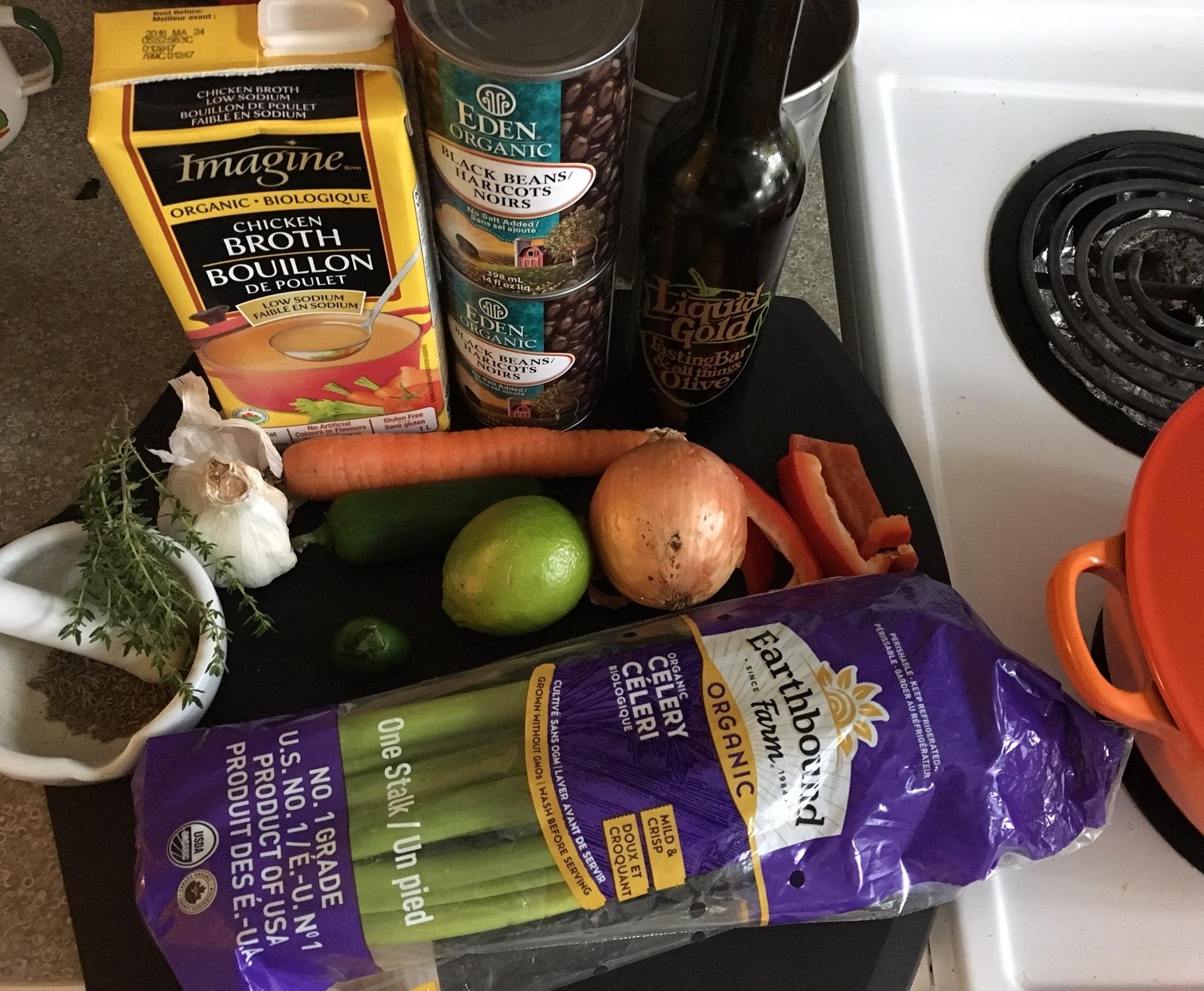 Ingredients prep.