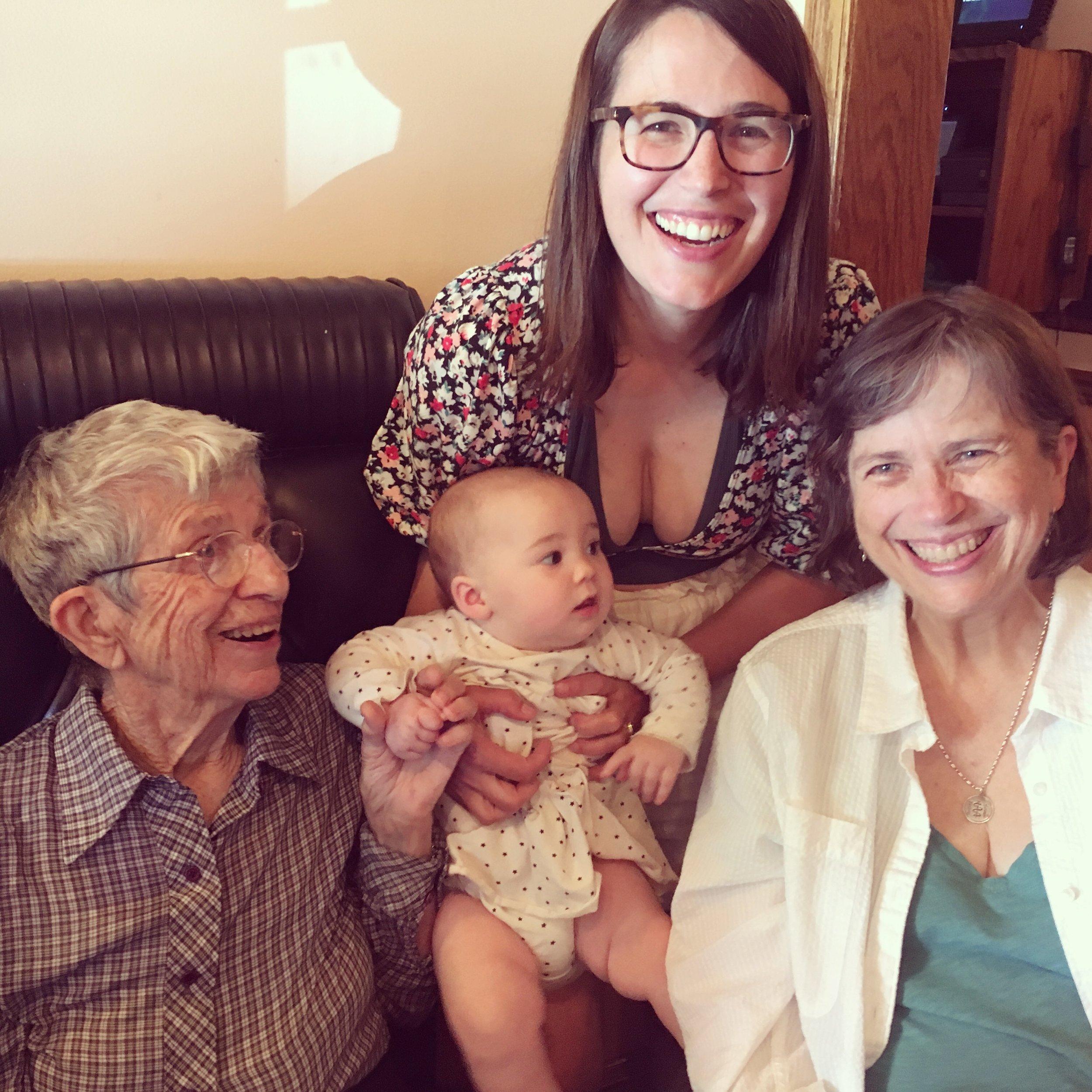 Four generations of Bergstrom women!