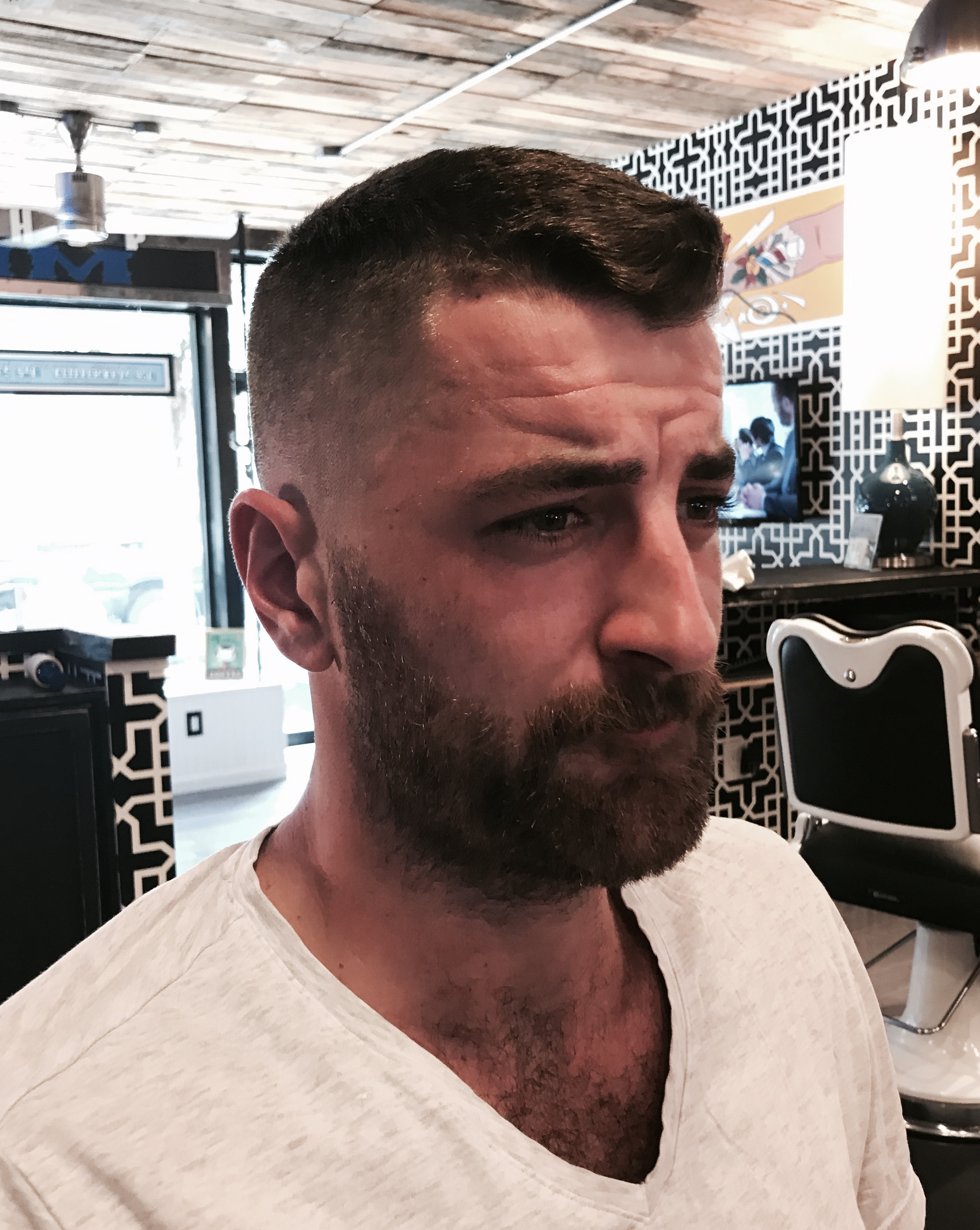 Bald Fade on Barbershop regular Percy Work done by Chris