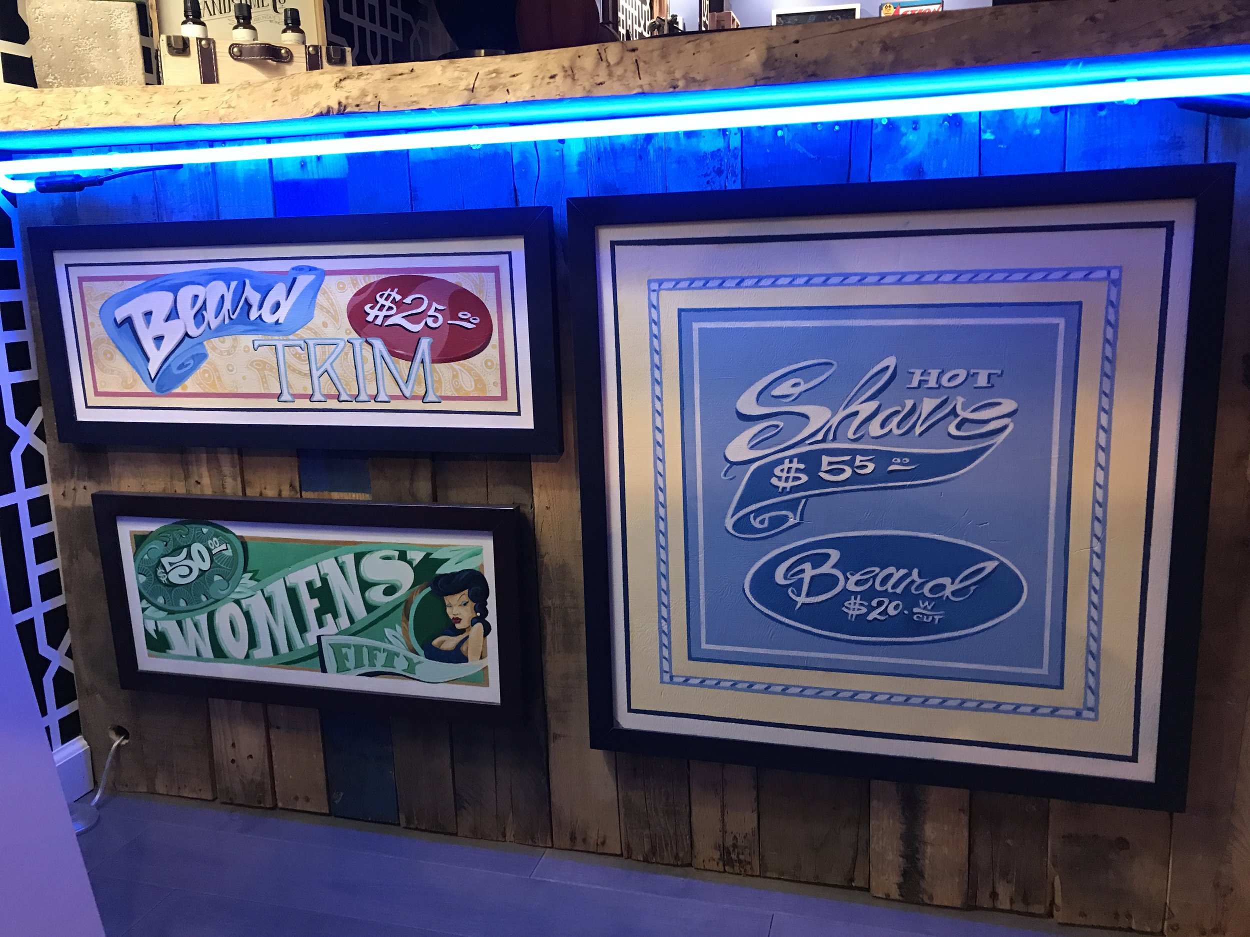 Hand painted vintage signs
