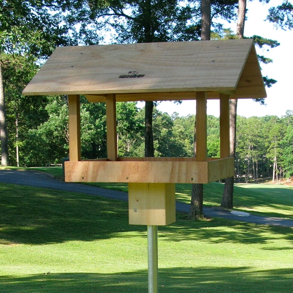 HSV Audubon tray feeder can be pole mounted or modified for hanging - see more details, pricing and availability at  our store