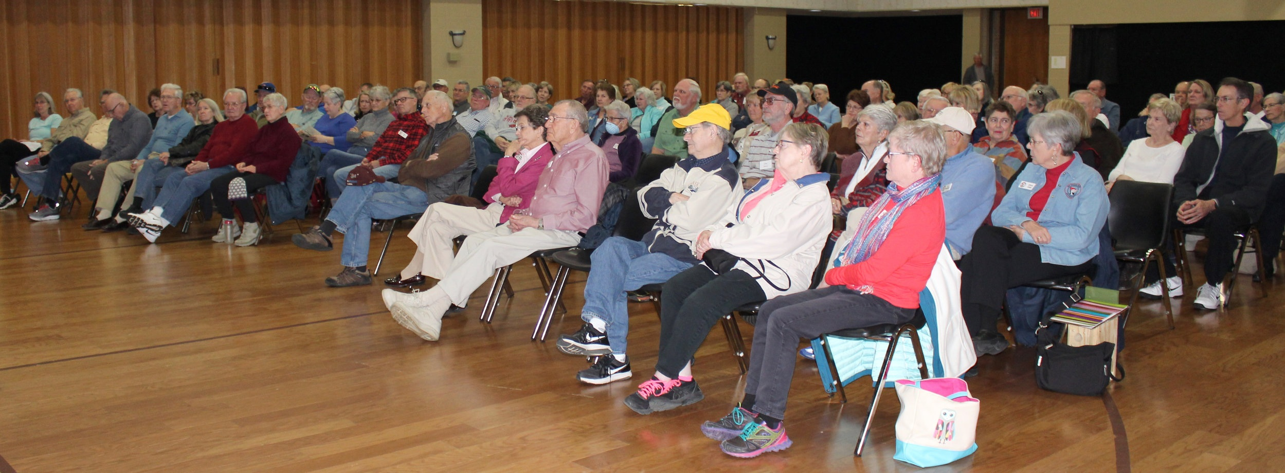 Over 109 members and guests watched & listened. Great turn-out for our first meeting of 2019.