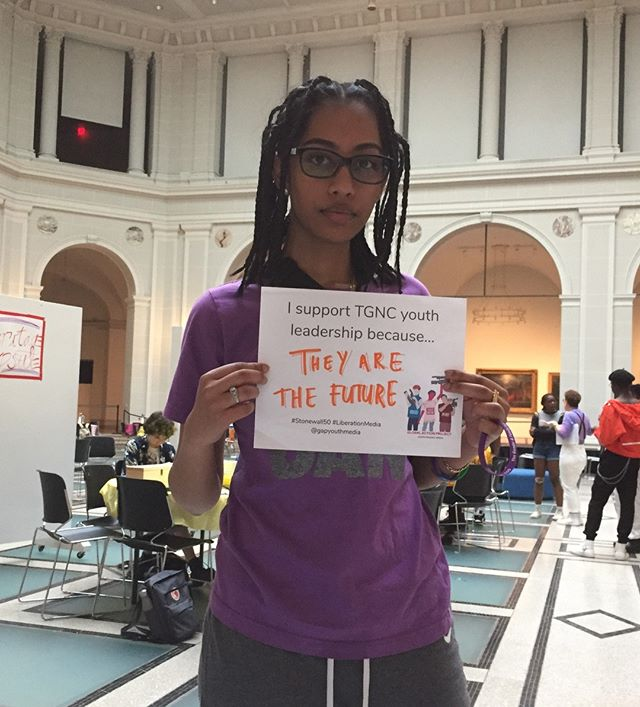 From earlier this summer at the Brooklyn Museum @brooklynmuseum  LGBTQ+ Teen Night #transfutures