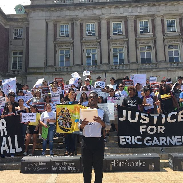 Last month, youth led a Manhattan march demanding justice for #EricGarner. Today they lead us again in Staten Island to demand @NYCMayor/NYPD: ✔#FireWayneIsaacs for killing #DelrawnSmall ✔#FirePantaleo & ALL Garner misconduct cops incl Justin D'Amico, Lt Bannon, Sgt Adonis +