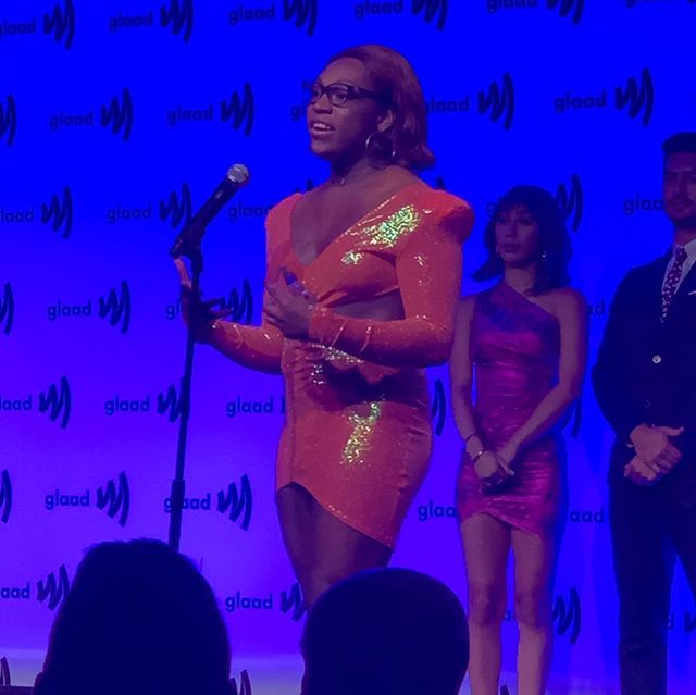 This last Saturday, @GLAAD awarded the Rising Stars Award in presented by @netflixto Giselle Ariel Bleuz!!! 🌟 So exciting 🥳🥳🥳 (more post coming soon)