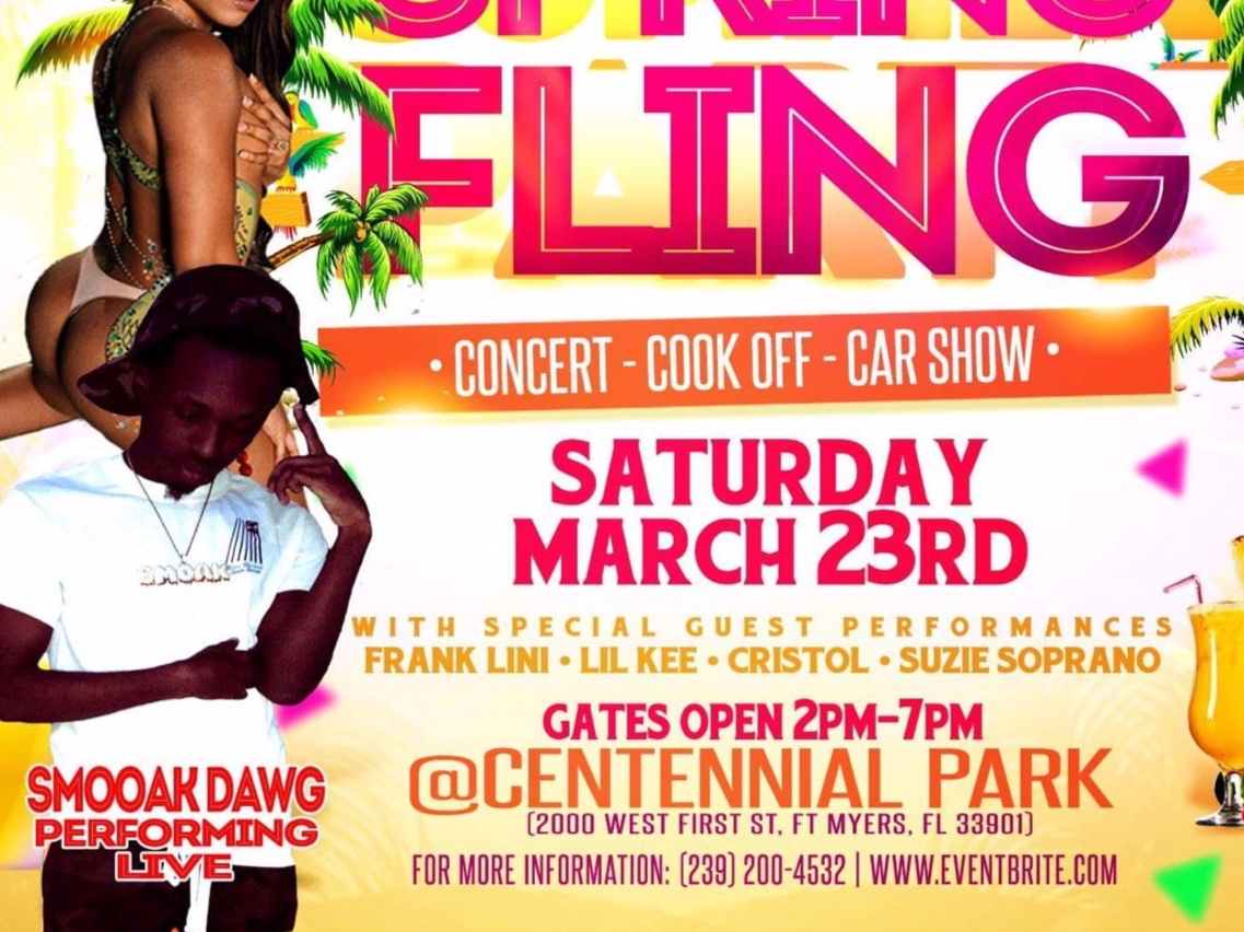 Smoak Dawgg@SPRING FLING - Centennial Park2000 W 1st St Fort Myers, FL23 March 2019