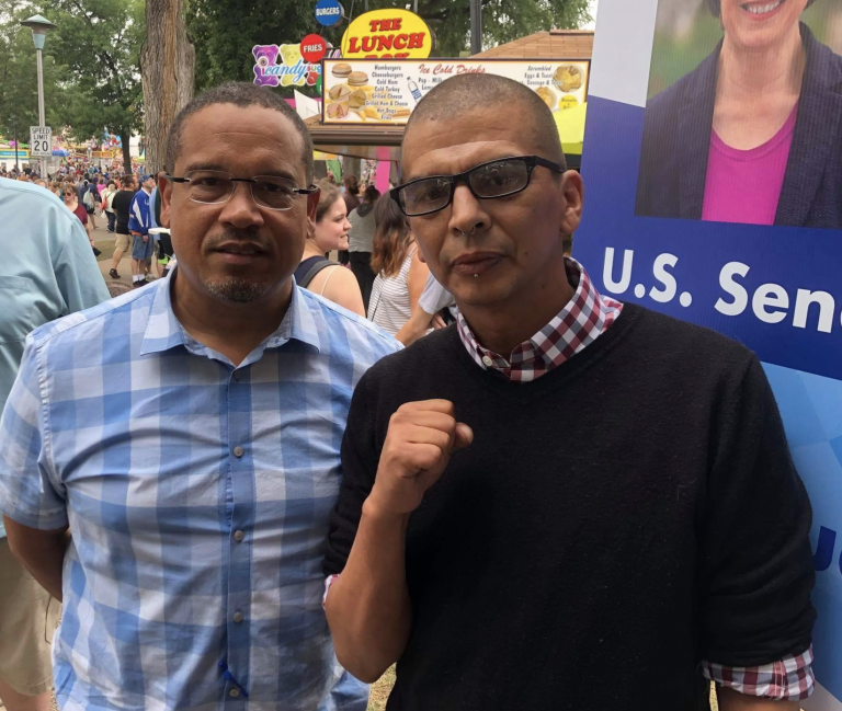 Keith Ellison with Antifa.png
