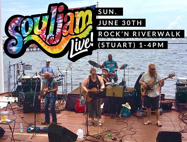 Sunday! We are back in Stuart for Rock'n Riverwalk! #souljam #stuartfl #rocknriverwalk