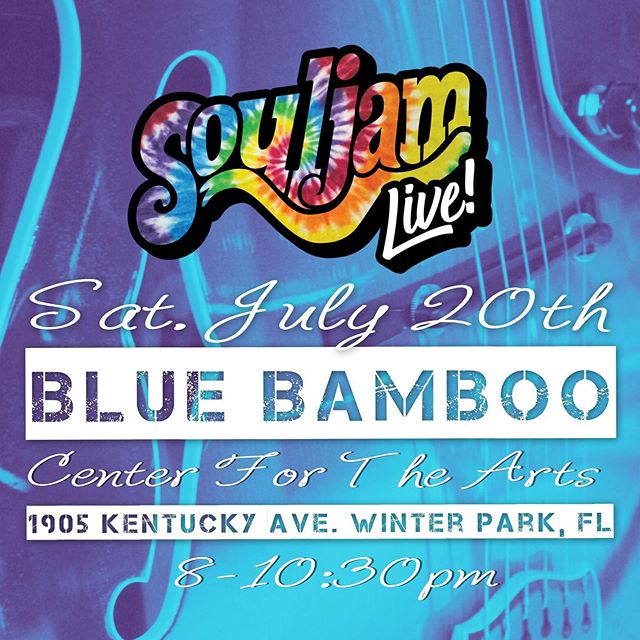 This weekend! We are live at @bluebambooartcenter in winter park! #bluebamboo #artcenter #bluebambooartcenter #souljam #orlando #flbands #fl #jamband #otown