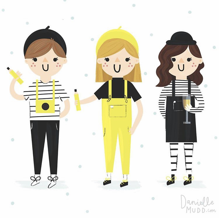 We've never looked cuter, thanks to  Danielle Mudd!