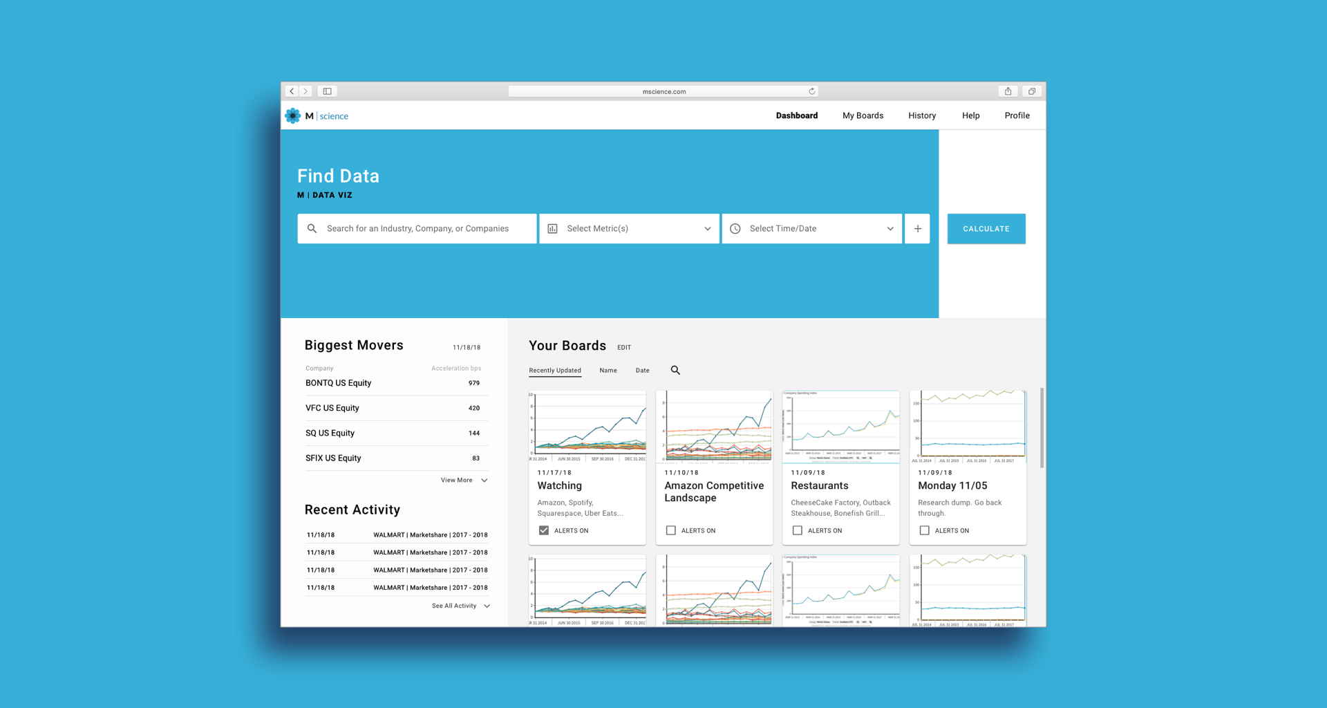 Redesigning an Investment Analytics Tool For Financial Institutions -