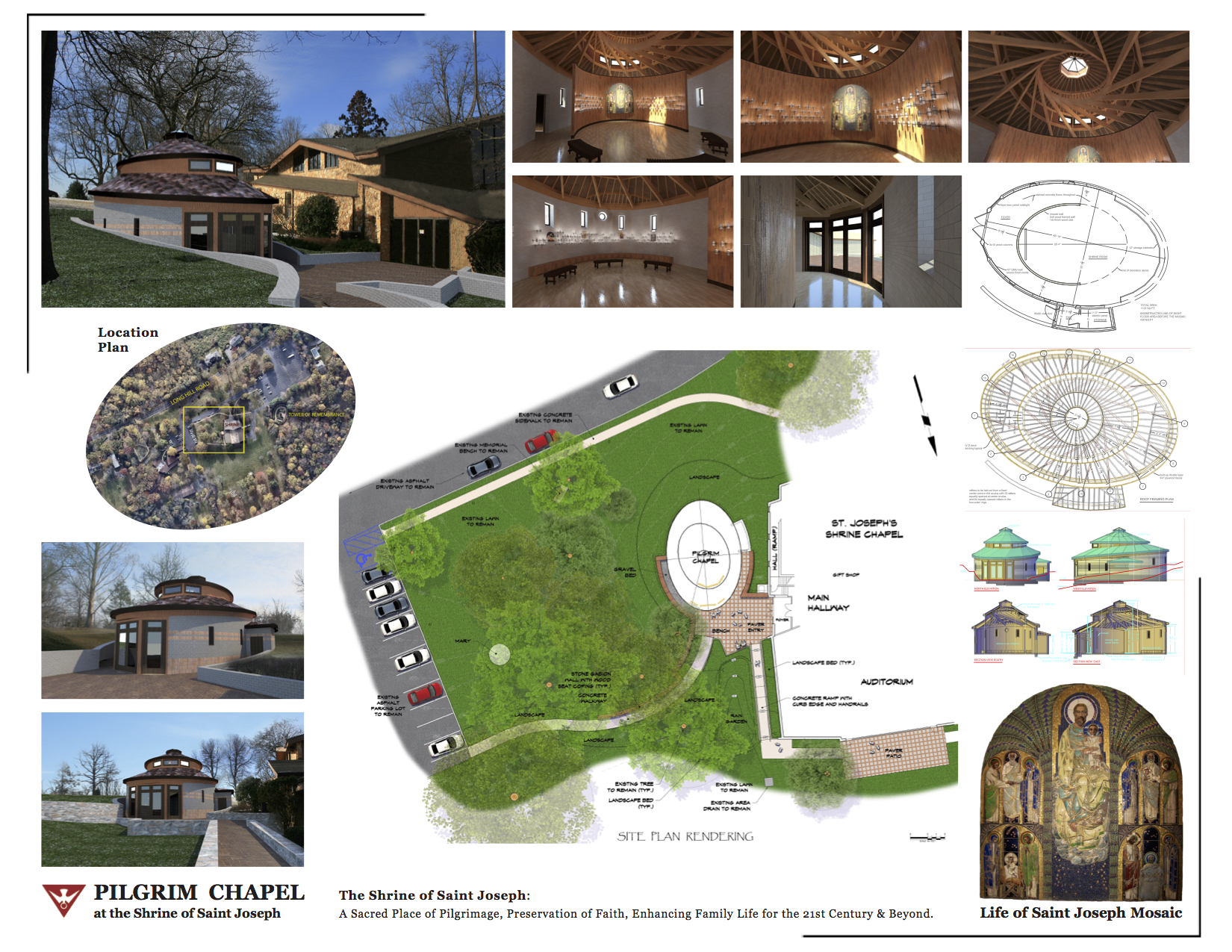 Pilgrim Chapel Site Plan Rendering