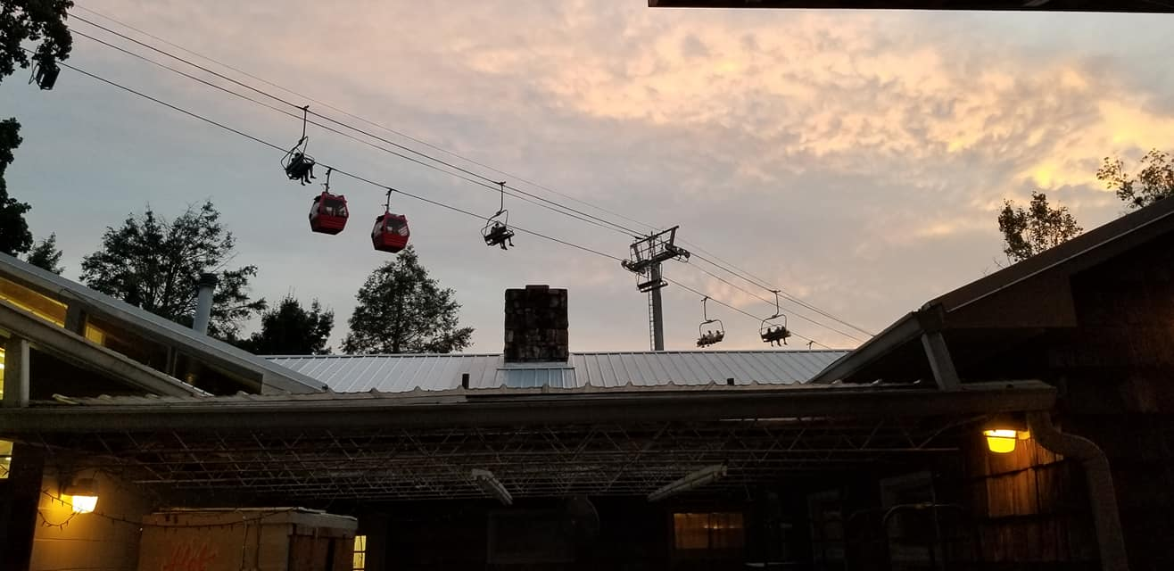 Sky lift over the campus